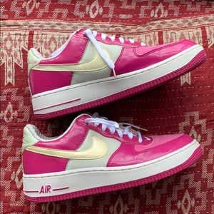Nikes Air Force 1 Premium Low US7.5 Rave Pink/WHT
